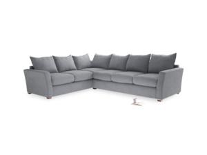 Xl Left Hand Pavilion Corner Sofa Bed in Dove Grey Wool