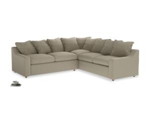 Even Sided Cloud Corner Sofa in Jute vintage linen