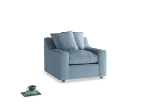 Cloud Armchair in Chalky blue vintage velvet