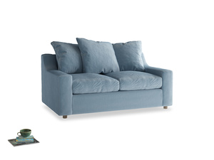 Small Cloud Sofa in Chalky blue vintage velvet