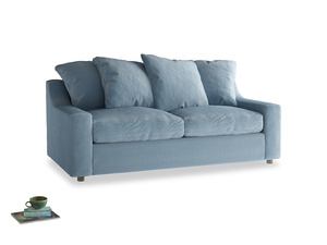 Medium Cloud Sofa in Chalky blue vintage velvet