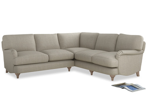 Even Sided Jonesy Corner Sofa in Thatch house fabric