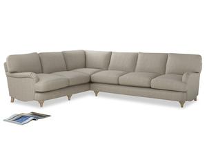 Xl Left Hand Jonesy Corner Sofa in Thatch house fabric