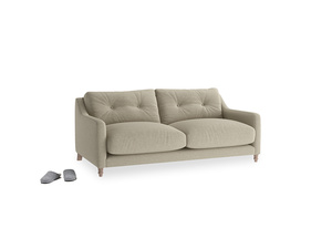 Small Slim Jim Sofa in Jute vintage linen