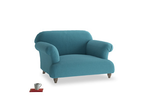 Soufflé Love seat in Lido Brushed Cotton