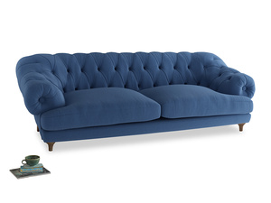 Extra large Bagsie Sofa in English blue Brushed Cotton