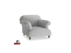 Soufflé Armchair in Pewter Clever Softie