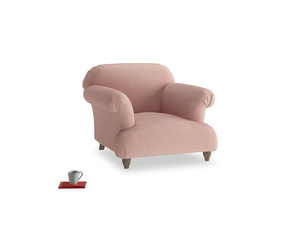 Soufflé Armchair in Tuscan Pink Clever Softie