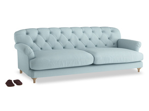 Extra large Truffle Sofa in Powder Blue Clever Softie