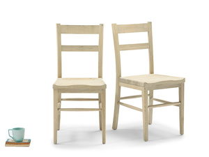 Pair of Idler In Natural kitchen chairs