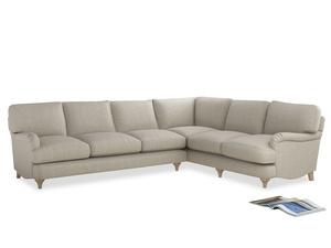Xl Right Hand Jonesy Corner Sofa in Thatch house fabric