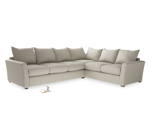 Xl Right Hand Pavilion Corner Sofa in Thatch House Fabric