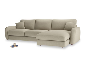 XL Right Hand  Easy Squeeze Chaise Sofa in Jute vintage linen