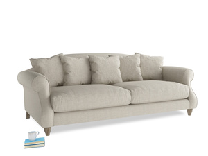 Large Sloucher Sofa in Thatch house fabric