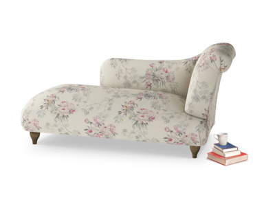 Right Hand Brontë Chaise Longue in Pink vintage rose