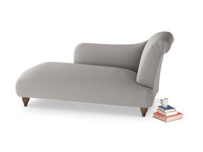 Right Hand Brontë Chaise Longue in Wolf brushed cotton