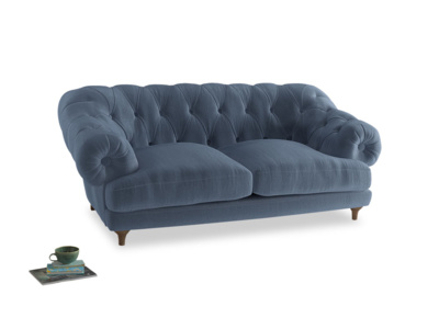 Medium Bagsie Sofa in Winter Sky clever velvet