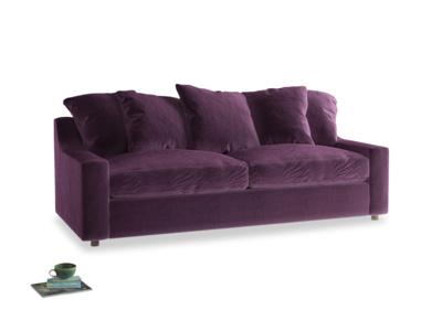 Large Cloud Sofa in Grape clever velvet