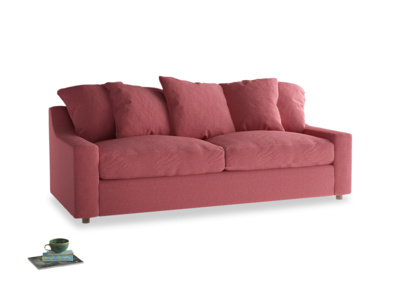 Large Cloud Sofa in Raspberry brushed cotton