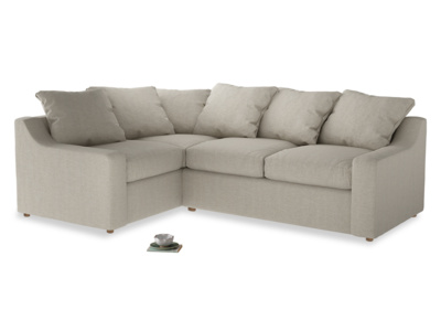 Large left hand Corner Cloud Corner Sofa Bed in Thatch house fabric