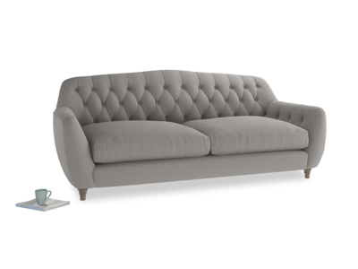 Large Butterbump Sofa in Wolf brushed cotton