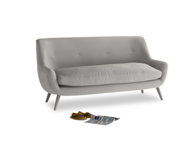 Medium Berlin Sofa in Wolf brushed cotton