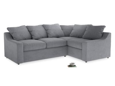 Large Right Hand Cloud Corner Sofa in Dove grey wool