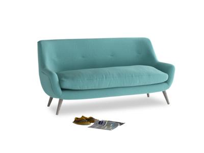 Medium Berlin Sofa in Peacock brushed cotton
