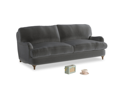 Medium Jonesy Sofa in Steel clever velvet
