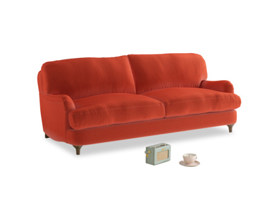 Medium Jonesy Sofa in Lava Plush Velvet