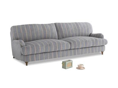 Large Jonesy Sofa in Brittany Blue french stripe