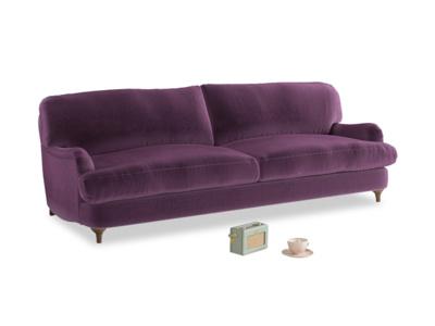 Large Jonesy Sofa in Grape clever velvet