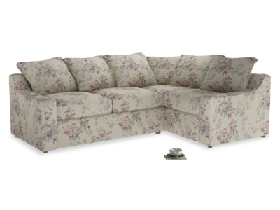 Large Right Hand Cloud Corner Sofa in Pink vintage rose