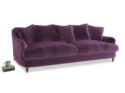Large Achilles Sofa in Grape clever velvet