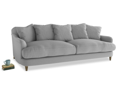 Large Achilles Sofa in Magnesium washed cotton linen