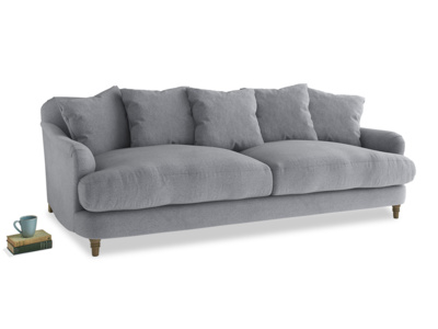 Large Achilles Sofa in Dove grey wool