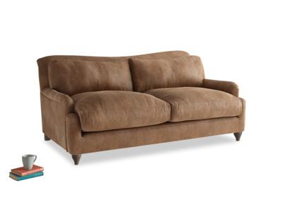 Medium Pavlova Sofa in Walnut beaten leather
