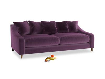 Large Oscar Sofa in Grape clever velvet