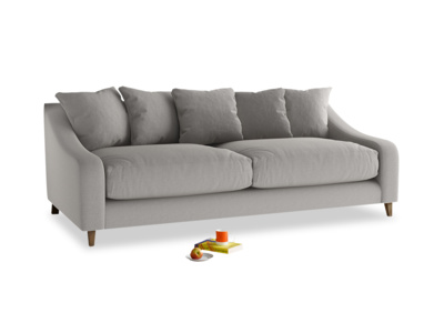 Large Oscar Sofa in Wolf brushed cotton
