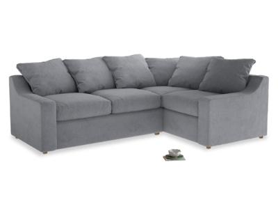 Large right hand Corner Cloud Corner Sofa Bed in Dove grey wool