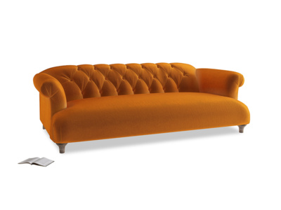 Large Dixie Sofa in Spiced Orange clever velvet