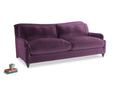 Large Pavlova Sofa in Grape clever velvet