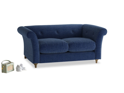 Small Chester Sofa in Ink Blue Wool