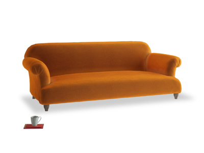Large Soufflé Sofa in Spiced Orange clever velvet