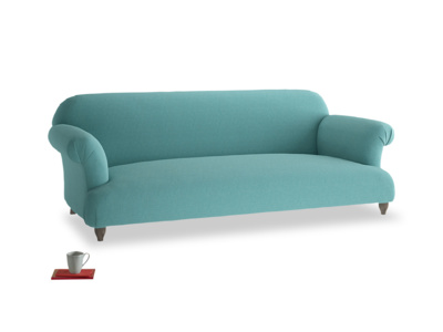 Large Soufflé Sofa in Peacock brushed cotton