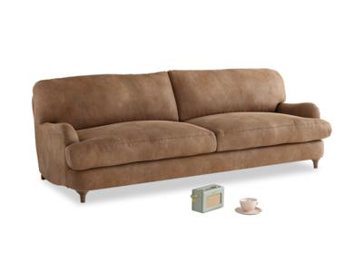 Large Jonesy Sofa in Walnut beaten leather