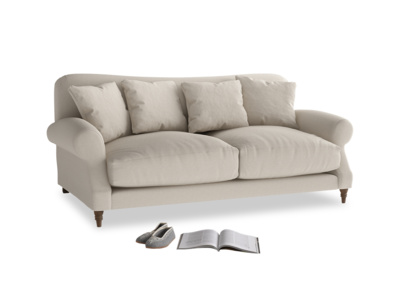 Medium Crumpet Sofa in Buff brushed cotton