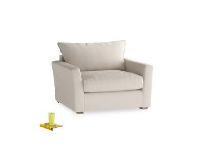 Pavilion Love Seat in Buff Brushed Cotton