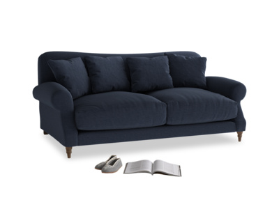 Medium Crumpet Sofa in Indigo vintage linen