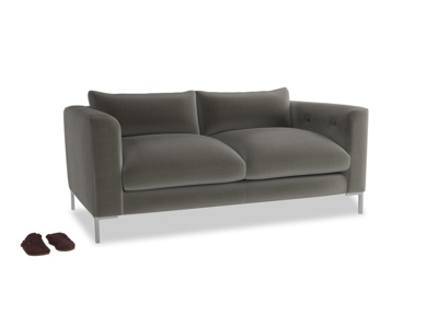Medium Rockstar Sofa in Slate Clever Velvet